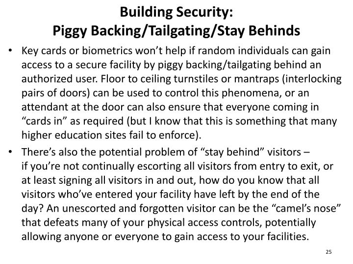 Building Security: