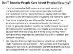 do it security people care about physical security