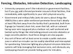 fencing obstacles intrusion detection landscaping