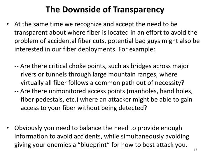 The Downside of Transparency