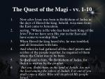 the quest of the magi vv 1 10