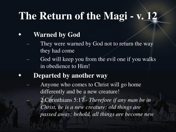 The Return of the Magi - v. 12
