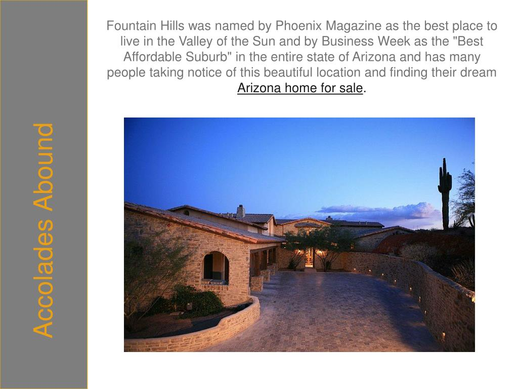 Fountain Hills was named