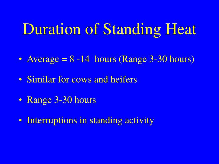 Duration of Standing Heat