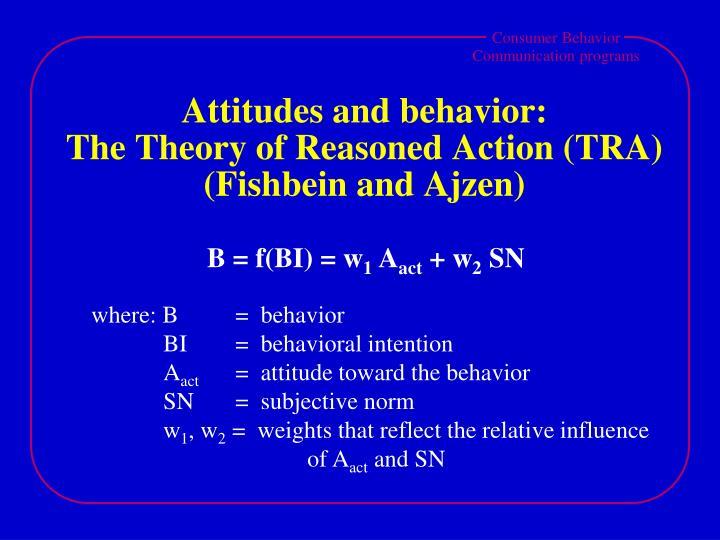 Attitudes and behavior: