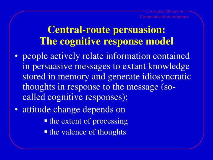 Central-route persuasion: