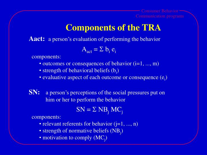 Components of the TRA