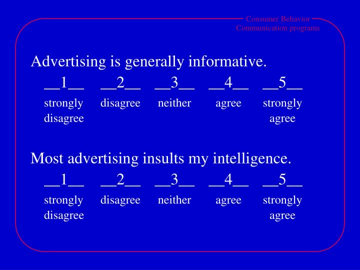 Advertising is generally informative.