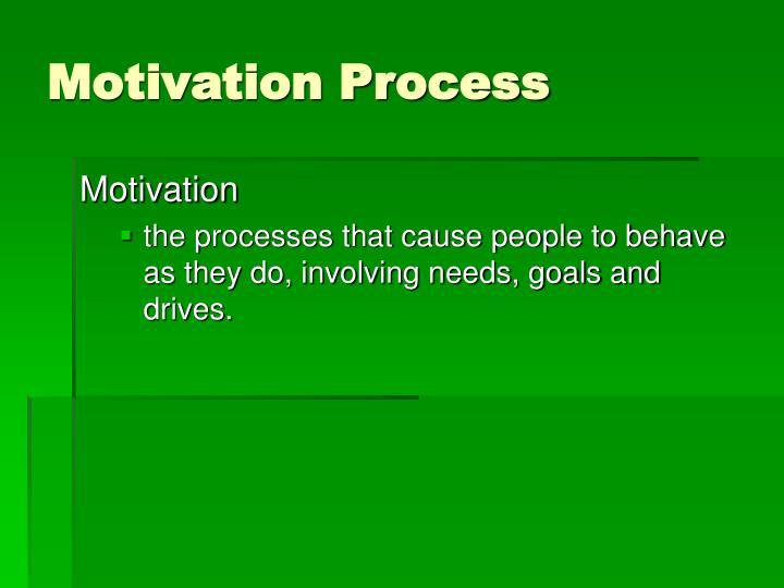 Motivation Process