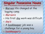 singular possessive nouns what is the possessive form of each underlined singular noun3