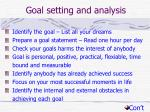 goal setting and analysis