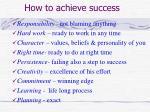 how to achieve success