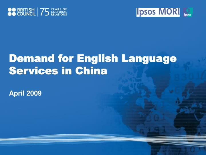 Demand for English Language Services in China