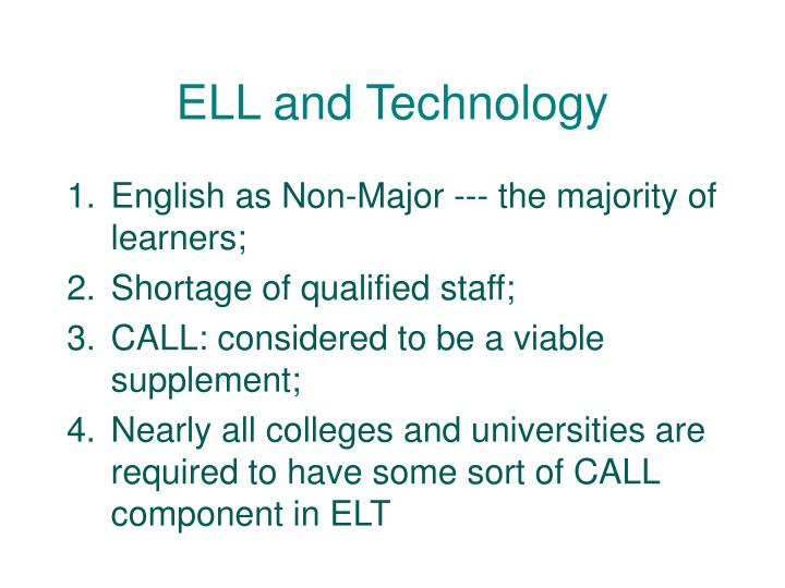 ELL and Technology