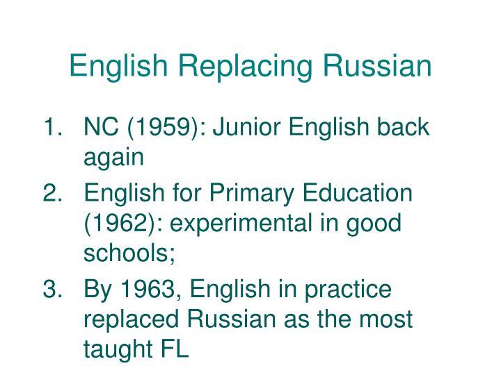 English Replacing Russian