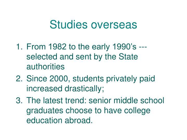 Studies overseas