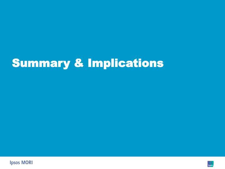 Summary & Implications