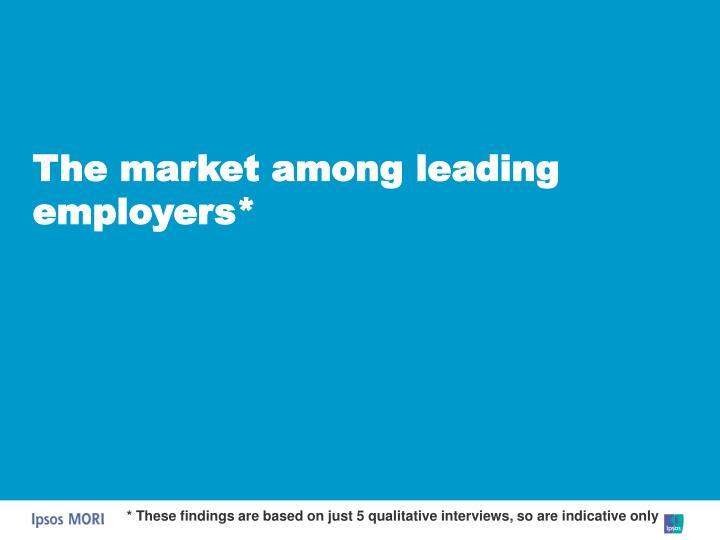 The market among leading employers*