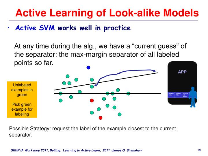 Active Learning of Look-alike Models