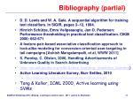 bibliography partial