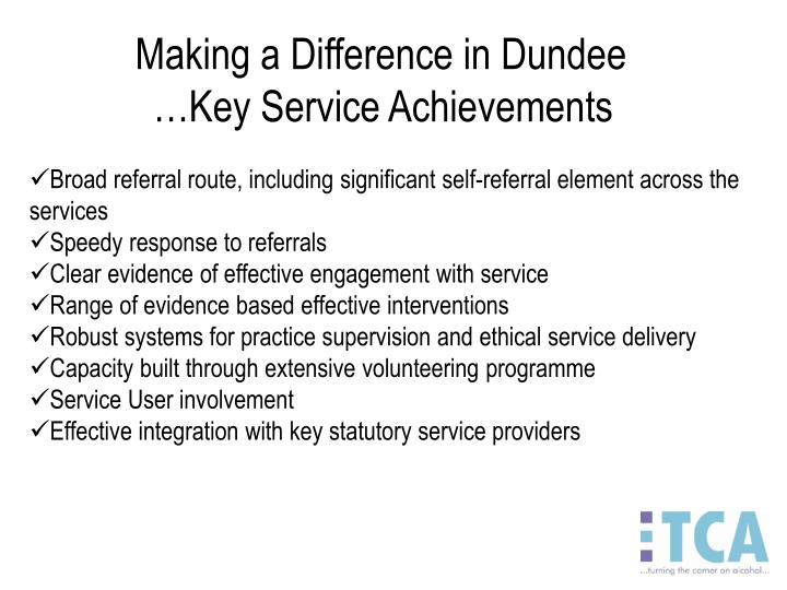 Making a Difference in Dundee