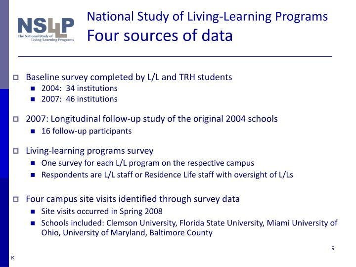 National Study of Living-Learning Programs