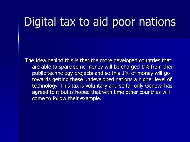 Digital tax to aid poor nations