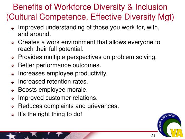 Benefits of Workforce Diversity & Inclusion