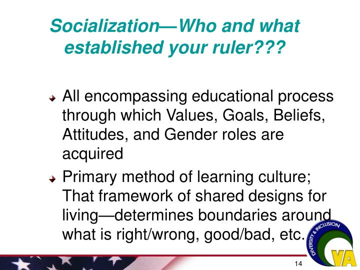 Socialization—Who and what established your ruler???
