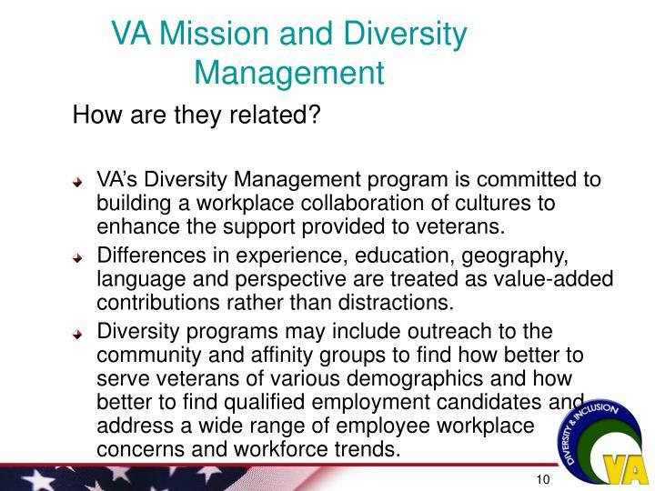 VA Mission and Diversity Management