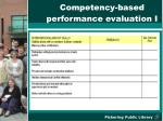 competency based performance evaluation i
