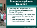 competency based training i