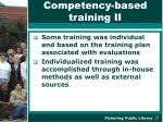 competency based training ii