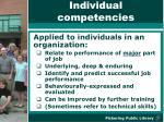 individual competencies