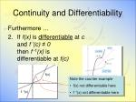 continuity and differentiability1