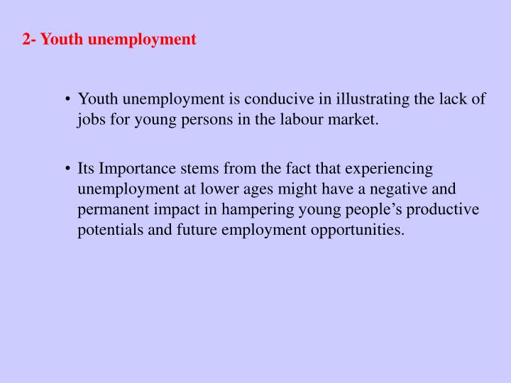 2- Youth unemployment