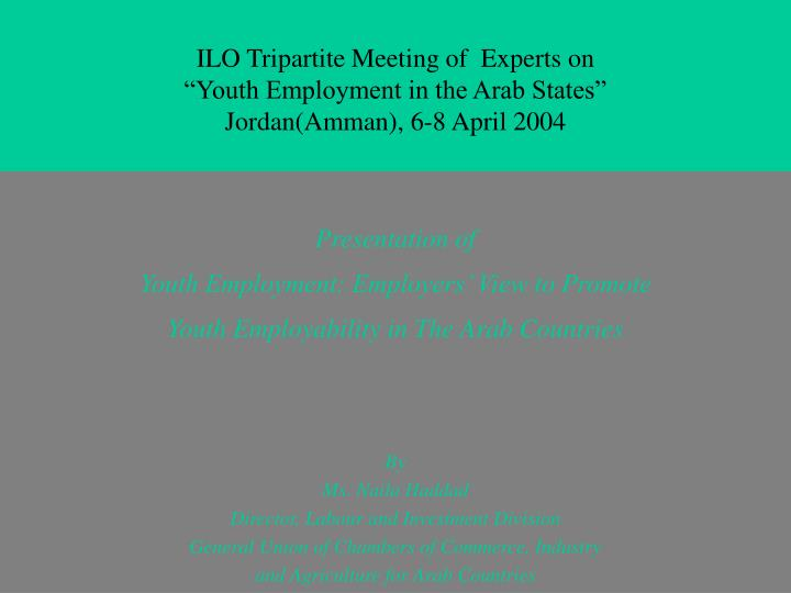 ILO Tripartite Meeting of  Experts on