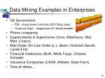 data mining examples in enterprises