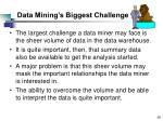 data mining s biggest challenge