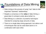 foundations of data mining