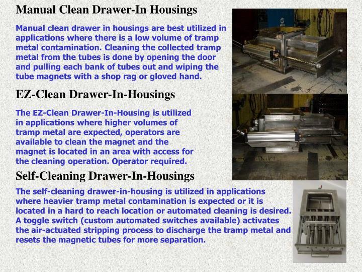 Manual Clean Drawer-In Housings