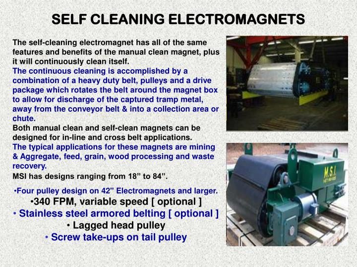 SELF CLEANING ELECTROMAGNETS