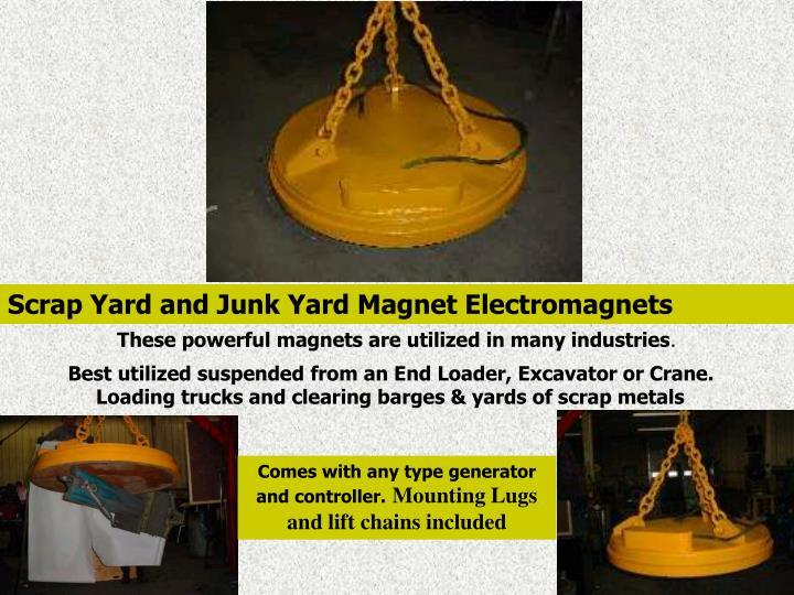 Scrap Yard and Junk Yard Magnet Electromagnets