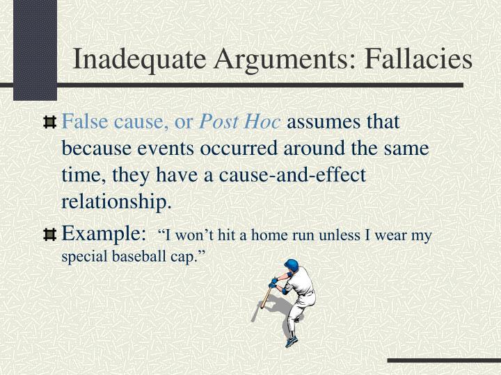 Inadequate Arguments: Fallacies
