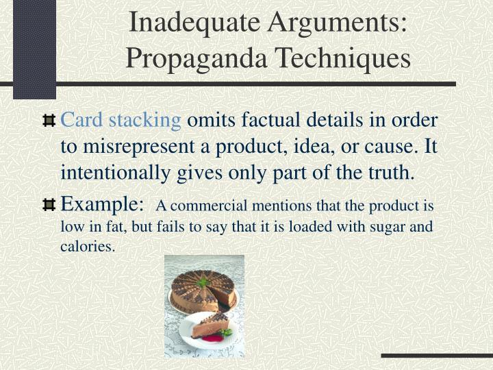 Inadequate Arguments: Propaganda Techniques