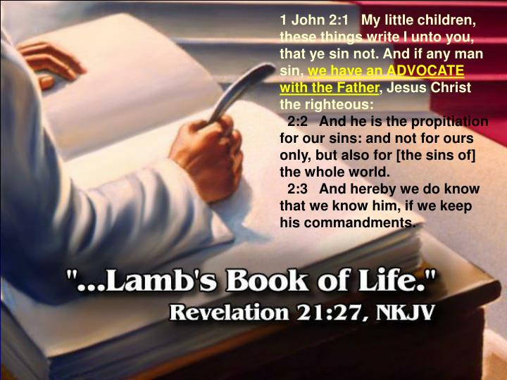1 John 2:1   My little children, these things write I unto you, that ye sin not. And if any man sin,