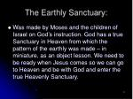 the earthly sanctuary