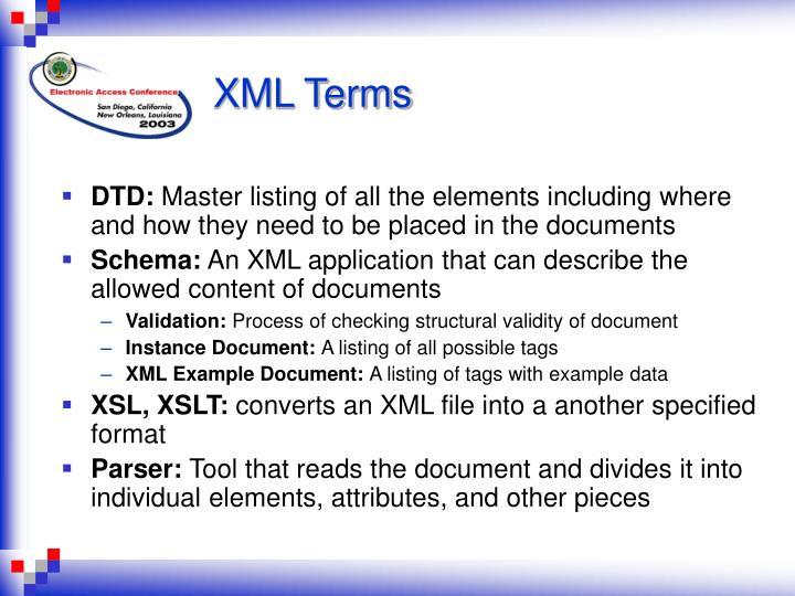 XML Terms