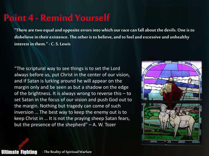 Point 4 - Remind Yourself