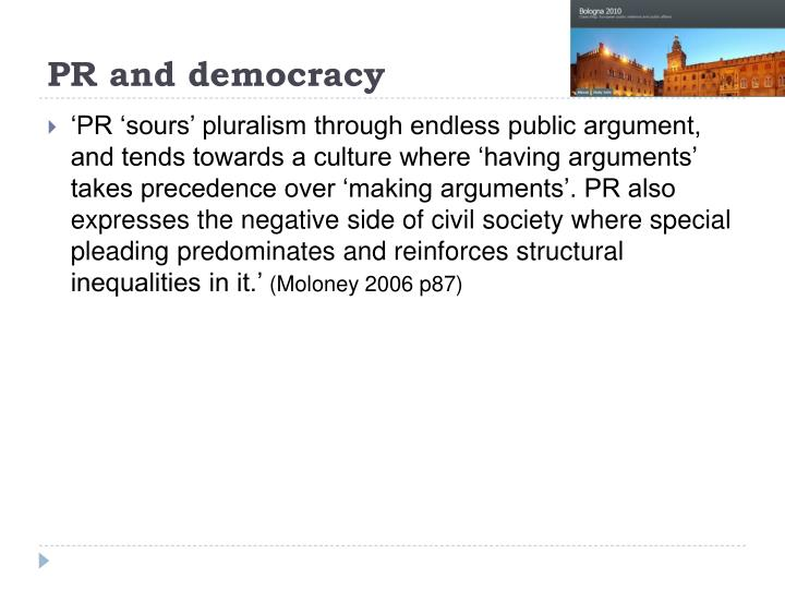 PR and democracy